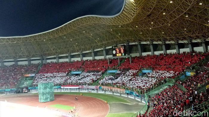Suasana stadion Patriot saat laga Indonesia versus Laos (Randy Prasatya/detikSport)