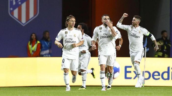 Real Madrid kalah 2-4 dari Atletico Madrid di Piala Super Eropa 2018 (Foto: Ints Kalnins/Reuters)