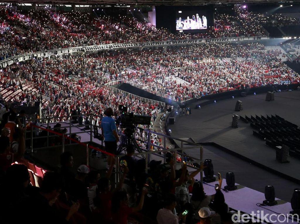 Mengheningkan Cipta untuk Korban Gempa Lombok di Pembukaan Asian Games 2018