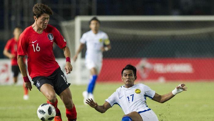 Malaysia berhasil mengalahkan Korsel 2-1 (INASGOC/Septianjar Muharam/Sup/18)