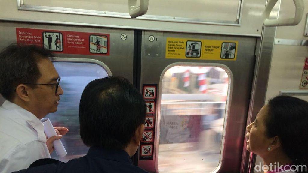 Rini Ngomel-ngomel Lihat Jalur Kereta Jakarta-Bogor Kotor
