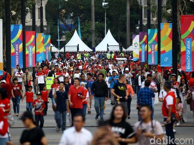 Suasana Jelang Pembukaan Asian Games 2018