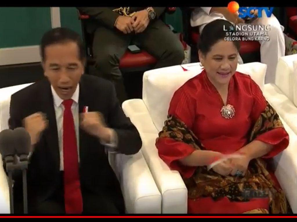 Via Vallen Nyanyi di Opening Asian Games, Jokowi Goyang Dayung