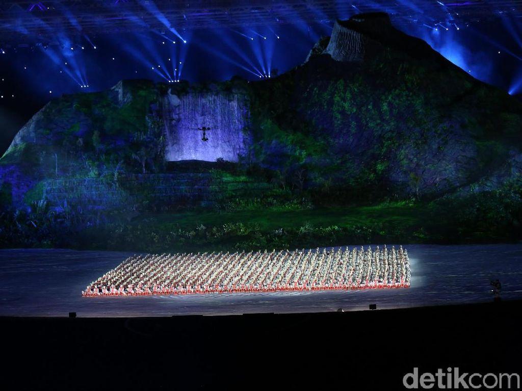Panggung Megah dan Ribuan Penari Meriahkan Defile Asian Games 2018
