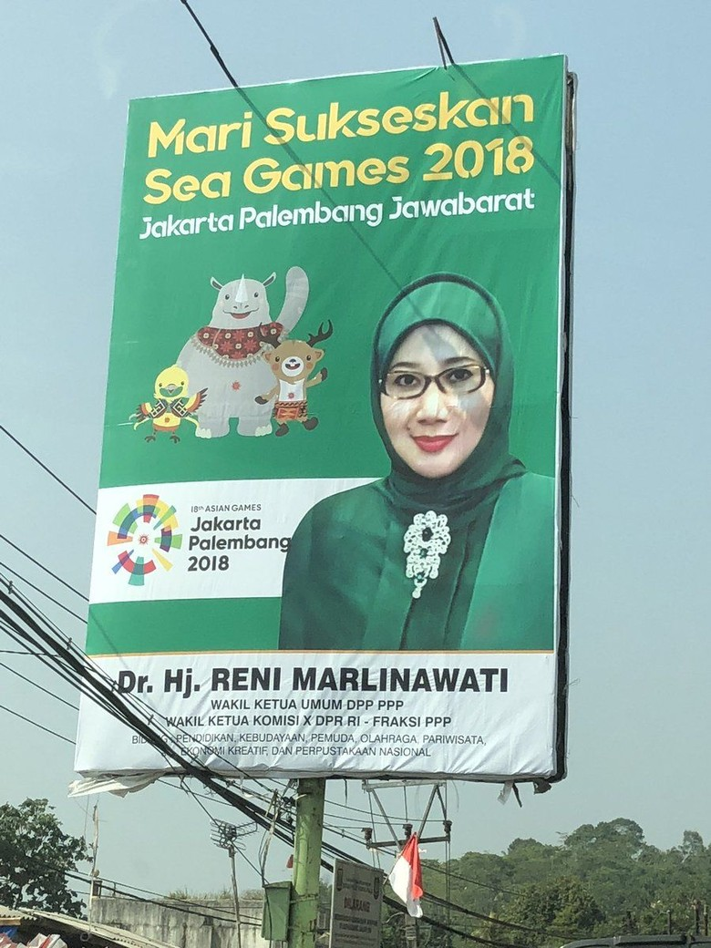 Viral Baliho Anggota DPR Salah Tulis Asian Games Jadi Sea Games