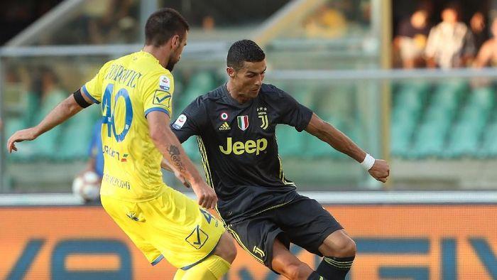 Debut Cristiano Ronaldo bareng Juventus berakhir dengan kemenangan. (Foto: Marco Luzzani/Getty Images)