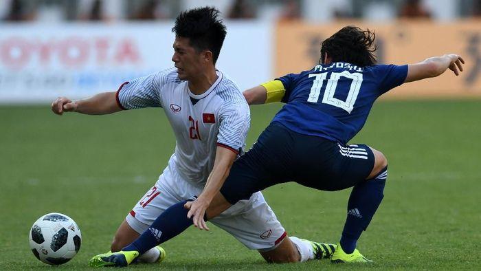 Vietnam mengalahkan Jepang 1-0 di Asian Games 2018 (Foto: ANTARA FOTO/INASGOC/Arif Nugroho)