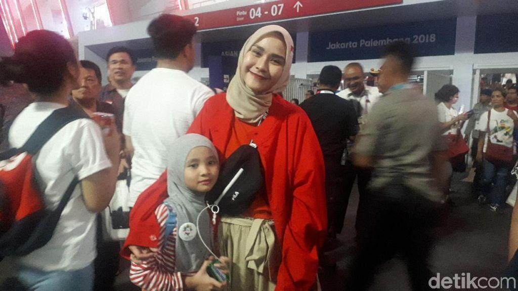 Zaskia Adya Mecca Puas Nonton Pembukaan Asian Games 2018