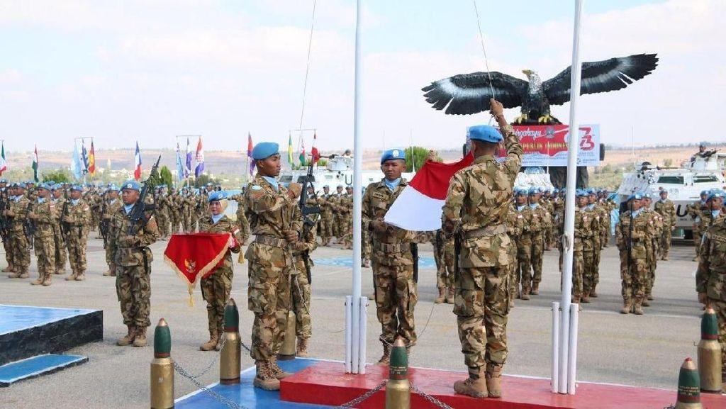 Pasukan Garuda UNIFIL Gelar Upacara HUT RI ke-73 di Lebanon Selatan