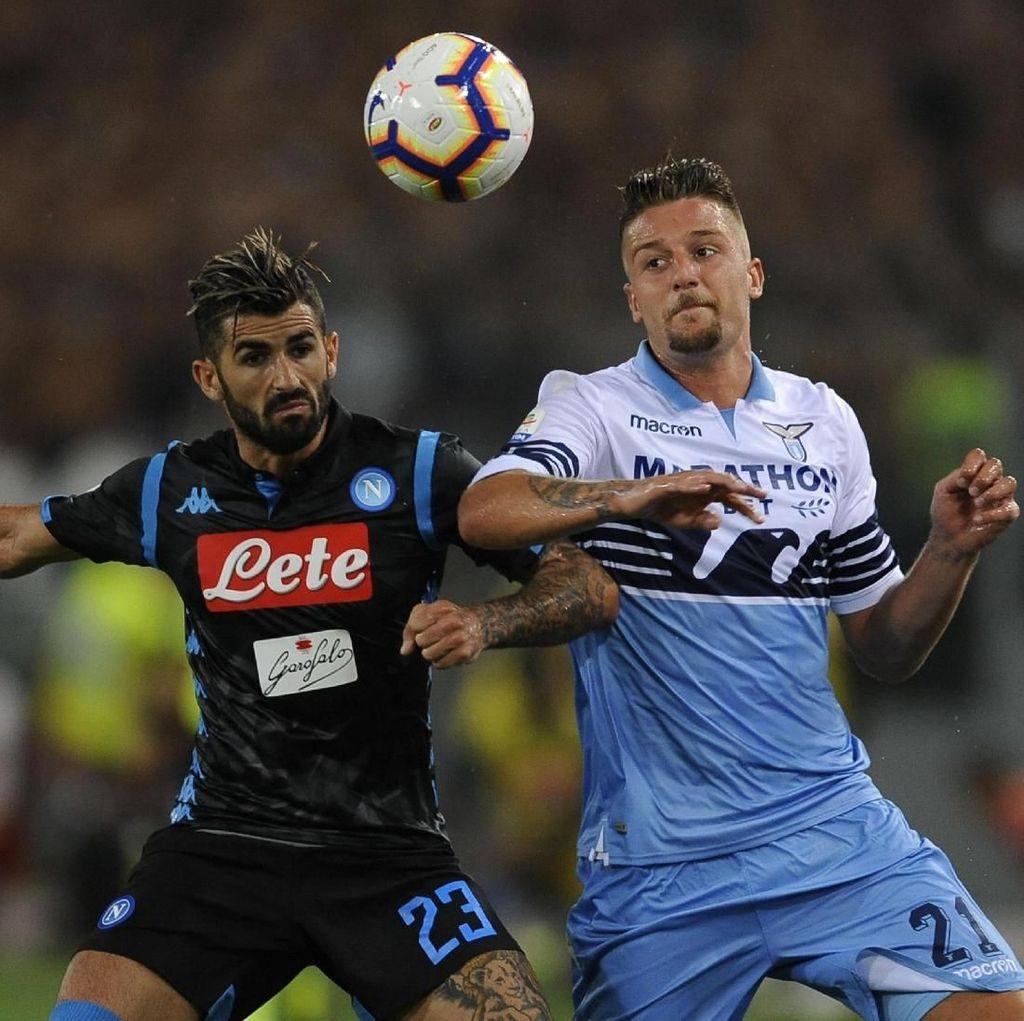 Hasil Liga Italia: Tertinggal Lebih Dulu, Napoli atasi Lazio