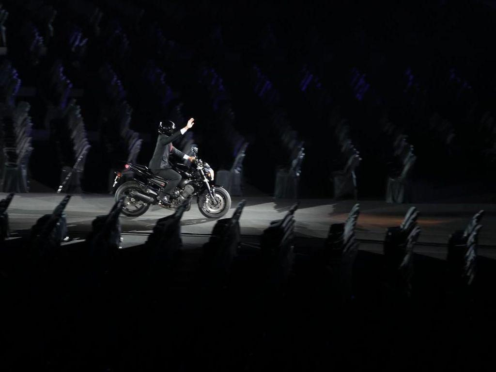 Cerita di Balik Aksi Jokowi Naik Moge di Pembukaan Asian Games