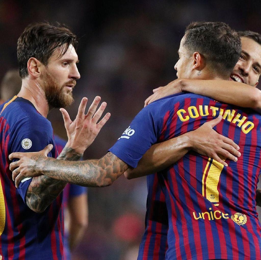 Hasil Liga Spanyol: Messi Dua Gol, Barcelona Awali Musim dengan Kemenangan