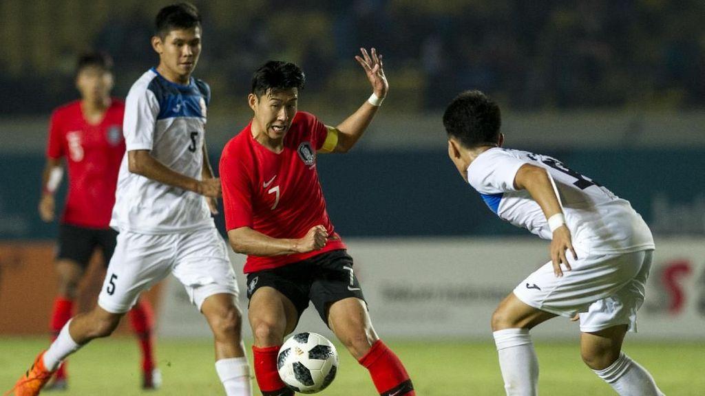Hasil Sepakbola Asian Games 2018: Gol Son Heung-min Antar Korsel ke 16 Besar