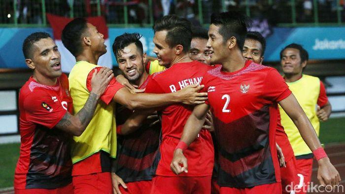Timnas Indonesia U-23 di Asian Games 2018. (Foto: Agung Pambudhy/detikcom)