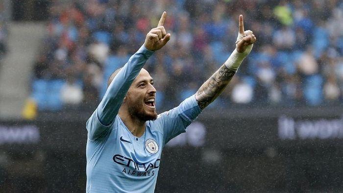 Pemain Manchester City David Silva terobsesi memenangi Liga Champions. (Foto: Darren Staples/Reuters)