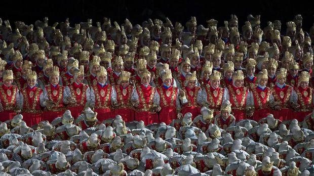 Para penari Ratoh Jaroe di Pembukaan Asian Games 2018. (