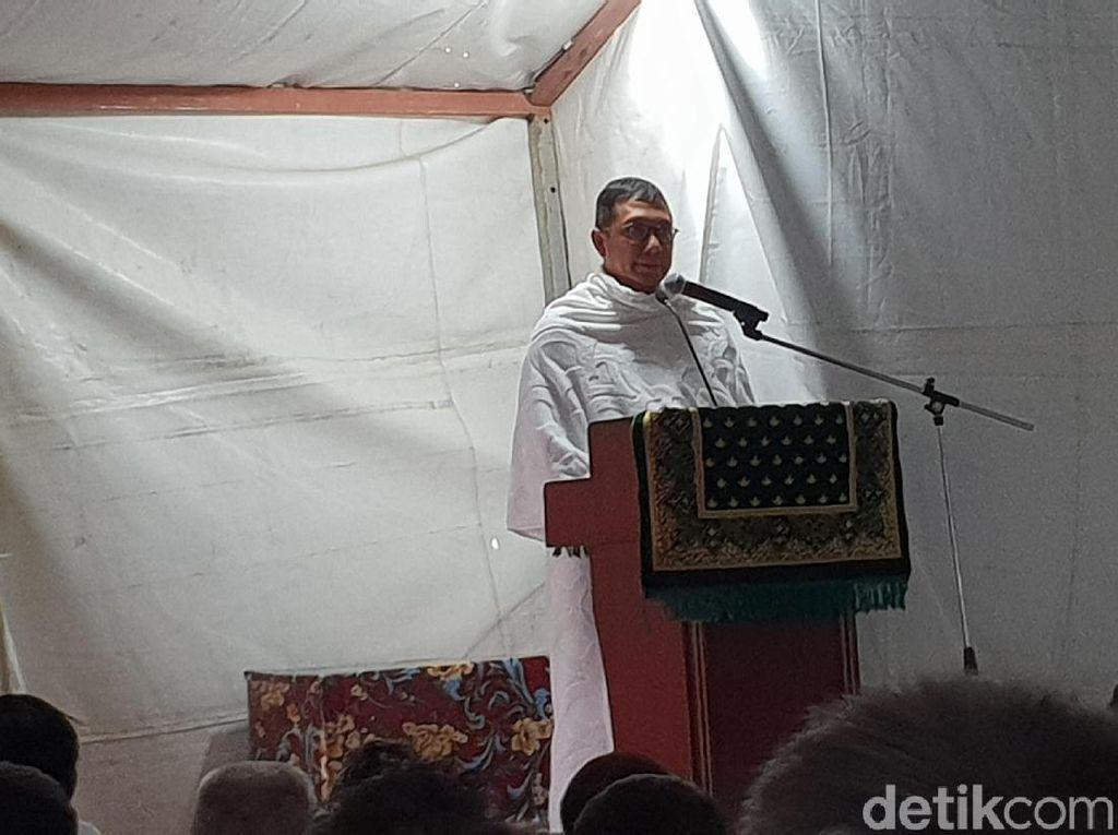 Pesan Persatuan dan Doa untuk Lombok dari Menag di Arafah