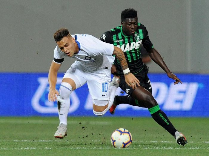 Inter Milan takluk 0-1 di kandang Sassuolo pada pekan pembuka Serie A (Jennifer Lorenzini/REUTERS)