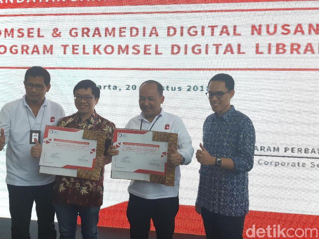 Minat Baca Rendah, Telkomsel Dorong Perpustakaan Digital