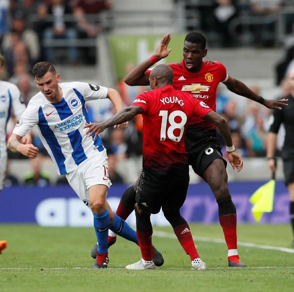 Hasil Liga Inggris: MU Dipermalukan Brighton 2-3