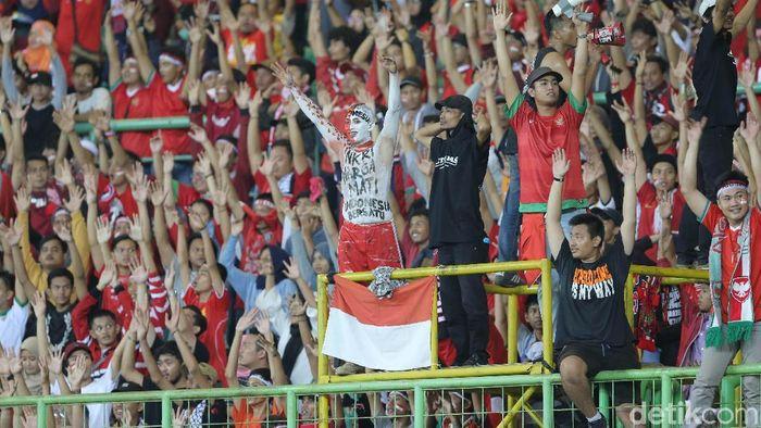 Ilustrasi suporter Indonesia (Agung Pambudhy/detikSport)