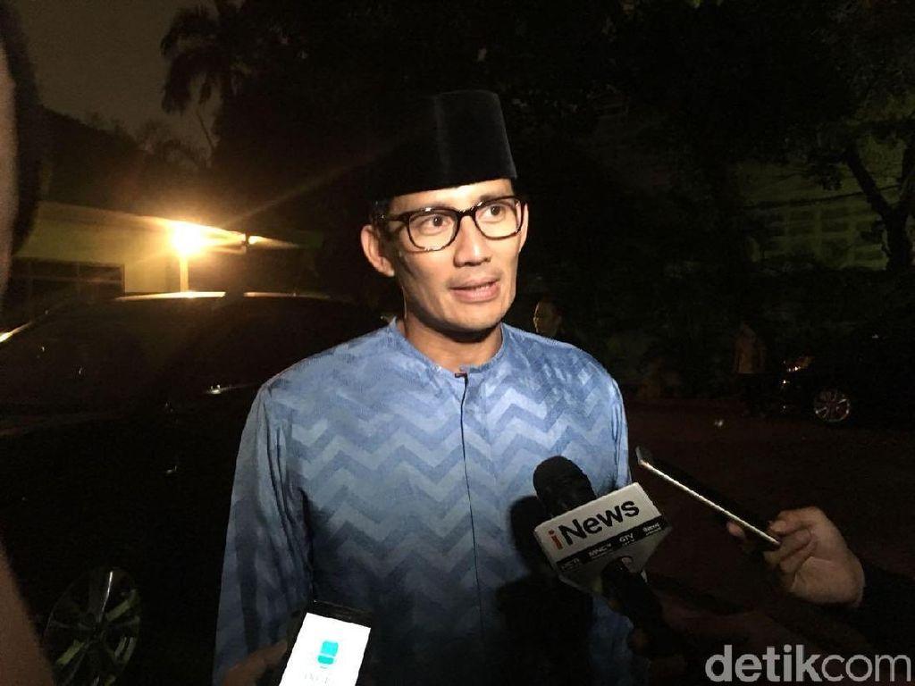 Prabowo Kurban di Hambalang, Sandiaga: Saya di Beberapa Lokasi
