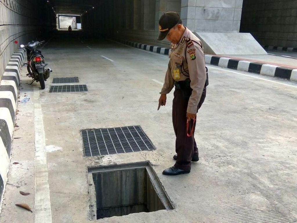 Tutup Gorong-gorong Underpass Mampang Hilang untuk Kali Ketiga