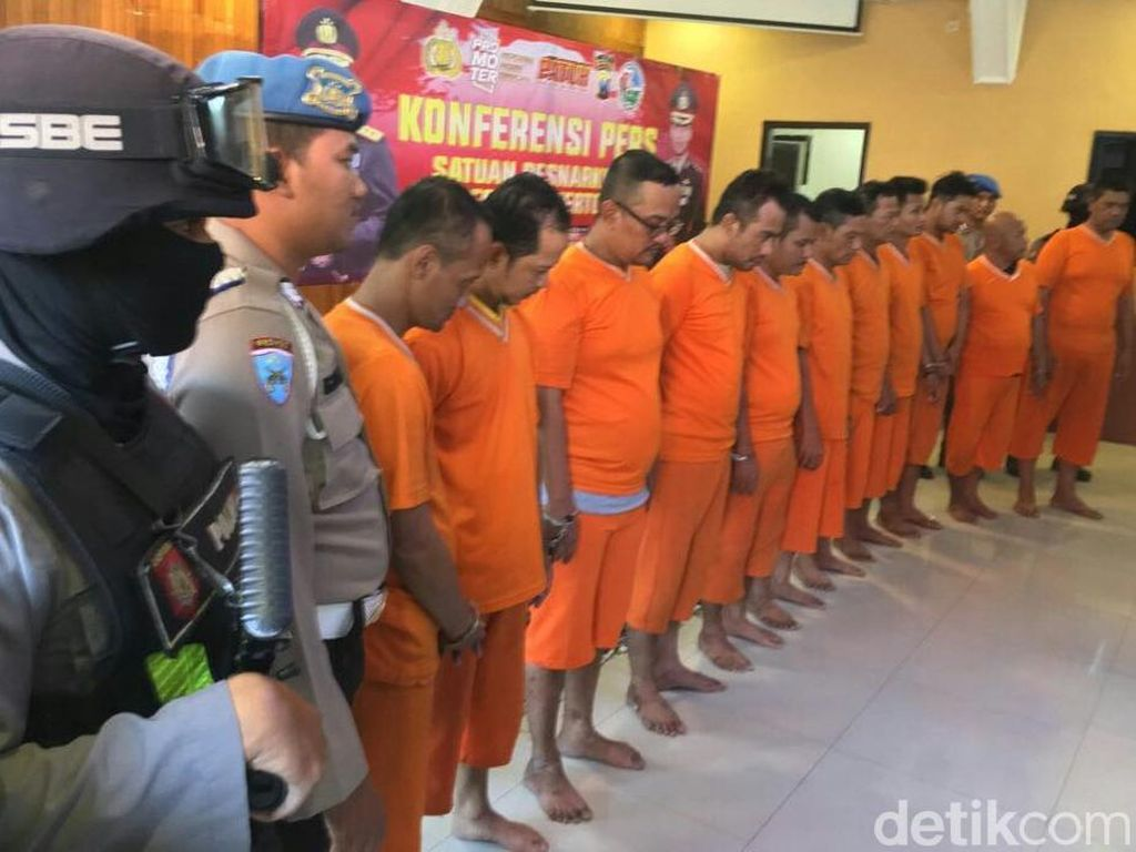 Belasan Pengedar dan Bandar Sabu di Kota Mojokerto Ditangkap