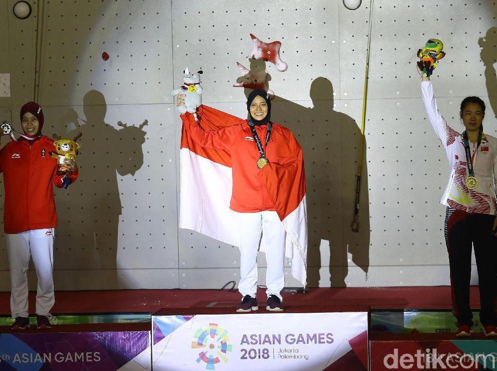 Raih Emas, Ini Gaya Hijab Aries Spiderwoman di Final Asian Games