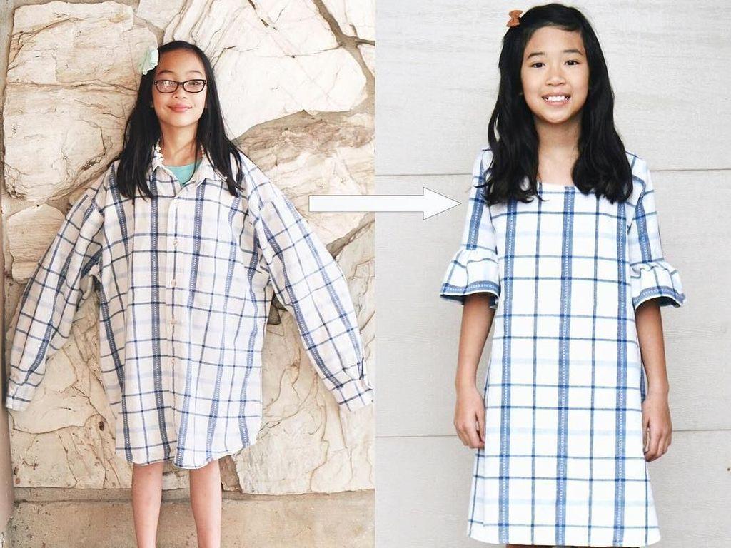 Kreatif! Wanita Ini Rombak Baju Bekas Jadi Kekinian