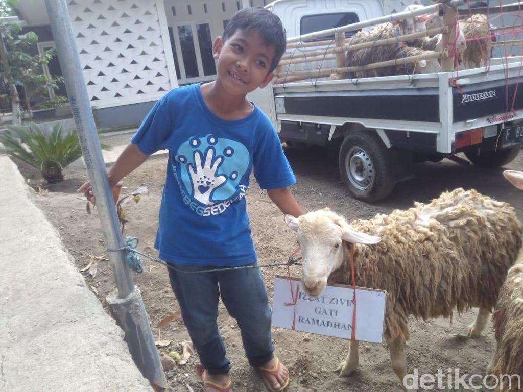 Cerita Pelajar SD Kurban Kambing dari Hasil Menabung 4 Tahun