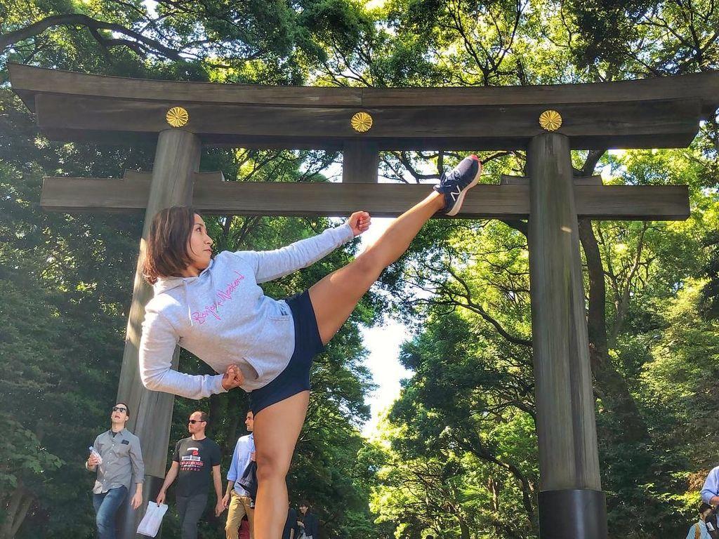 Intip Gaya Olahraga Sisilia Agustiani, Atlet Karate Cantik di Asian Games