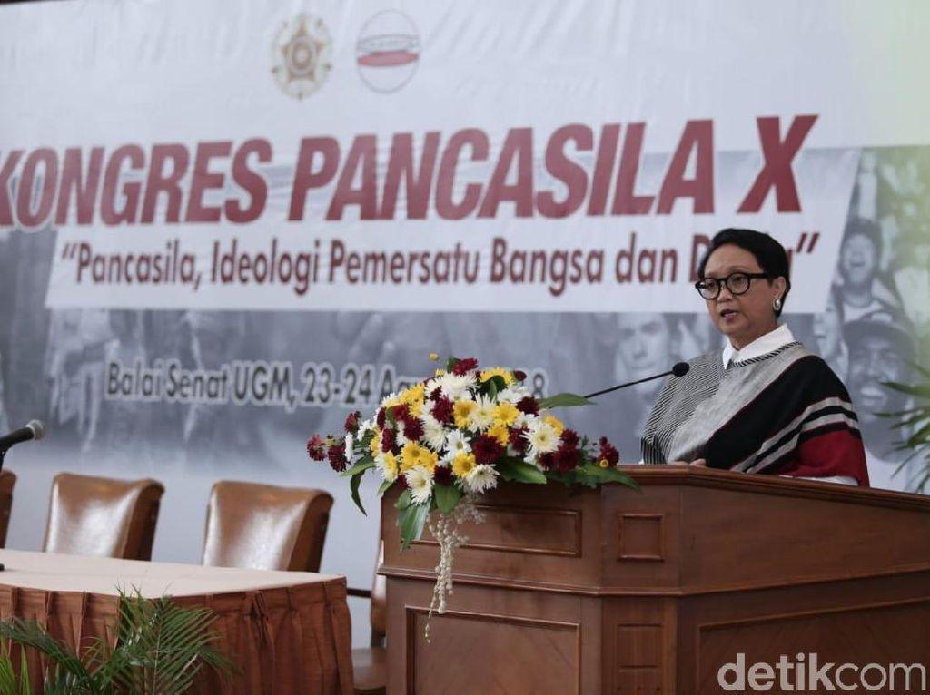 Menlu Retno Marsudi Sampaikan Pesan Ini di Kongres Pancasila X