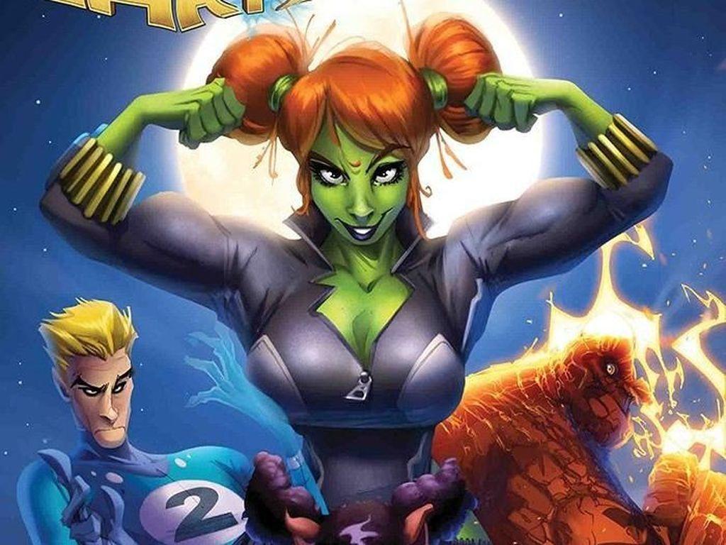 Hulk dan Black Widow Menyatu Jadi The Green Widow di Komik Ini