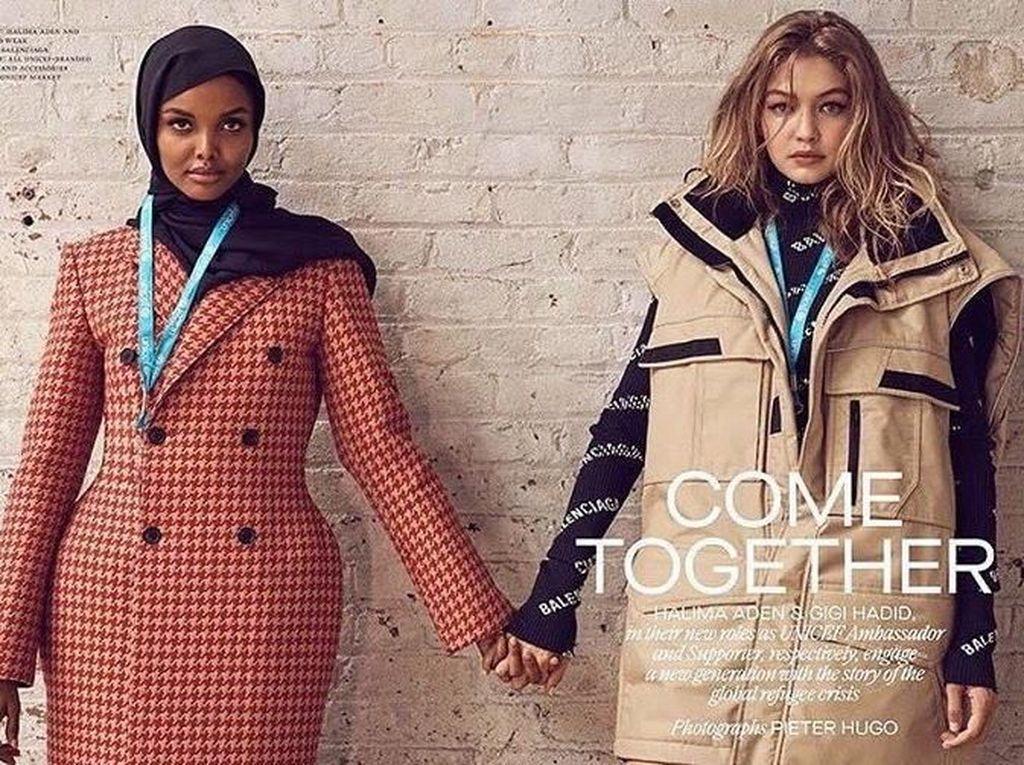 Hijabers Ini Jadi Model Sampul Majalah Fashion Bareng Gigi Hadid