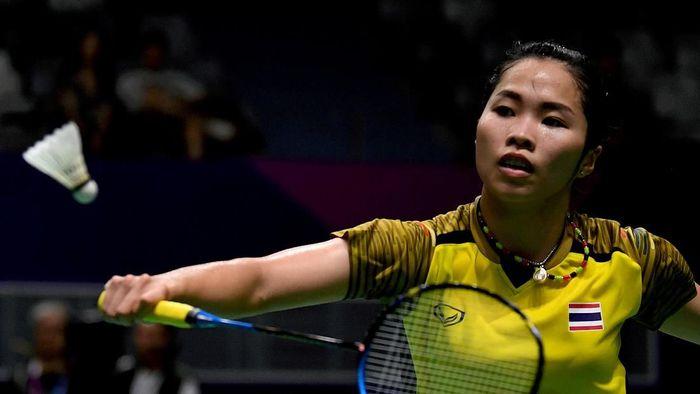 Ratchanok Intanon batal tampil di Superliga Badminton 2019. Intanon (Puspa Perwitasari/Antara)