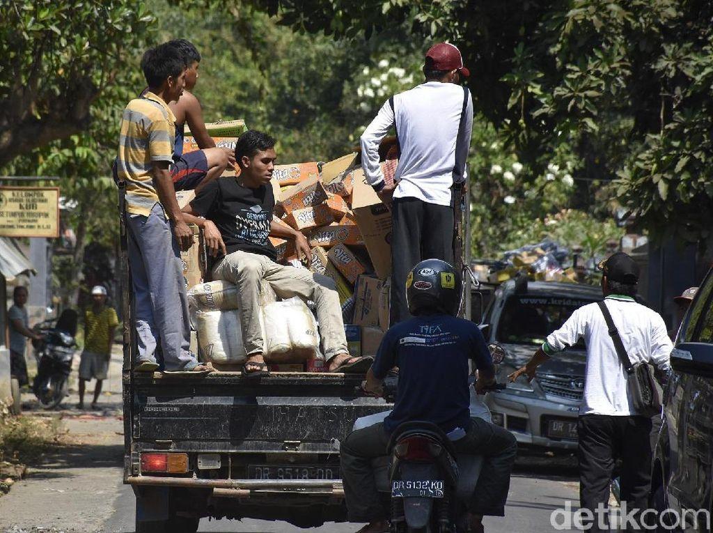 Bantuan untuk Korban Gempa Lombok Terus mengalir