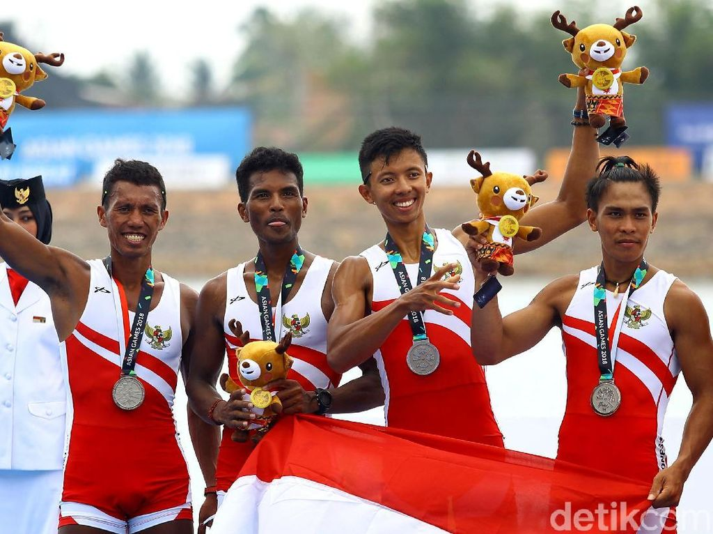 Raih Perak, Atlet Dayung Indonesia Ini Sempat Pusing Kepanasan