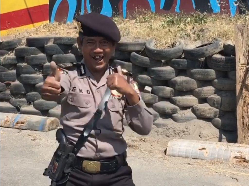 Masuk Pak Eko! Aksi Viral Polisi yang Lempar Cangkul hingga Sendok