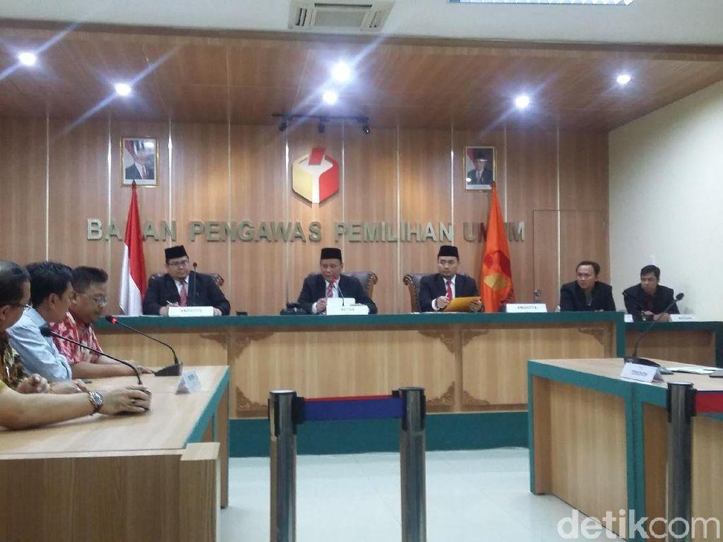 Bawaslu Gelar Sidang Putusan Mediasi Sengketa DCS 4 Parpol