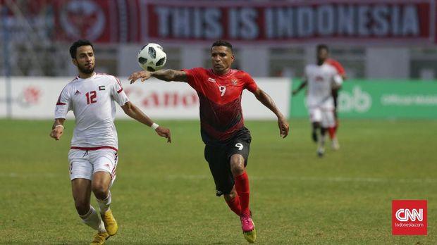Beto Goncalves mencetak gol pertama Timnas Indonesia U-23 vs UEA.