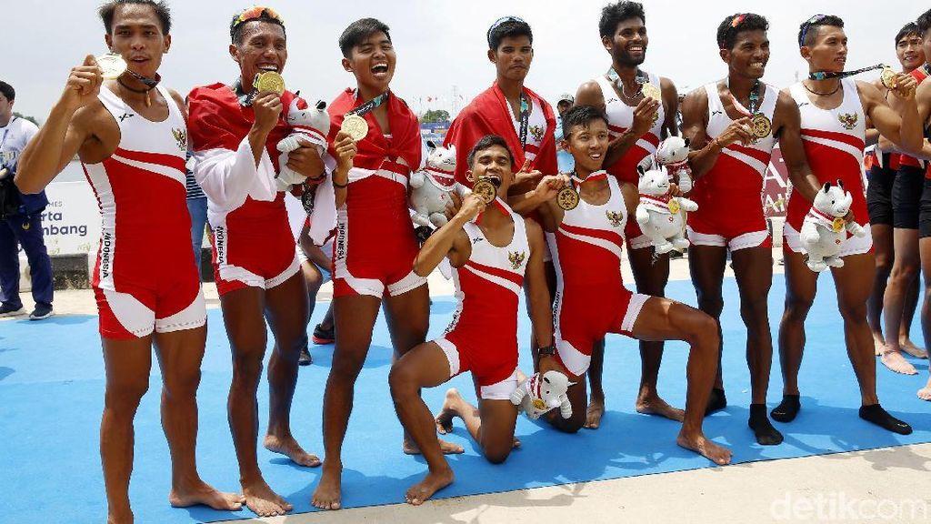 Tim Dayung Indonesia Raih Emas Asian Games 2018