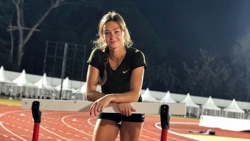 Terpana Tangguhnya Anna Bulanova, Atlet Lompat Jauh Kirgizstan