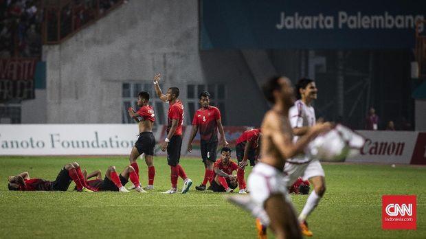Timnas Indonesia U-23 tersingkir di babak 16 besar Asian Games 2018.