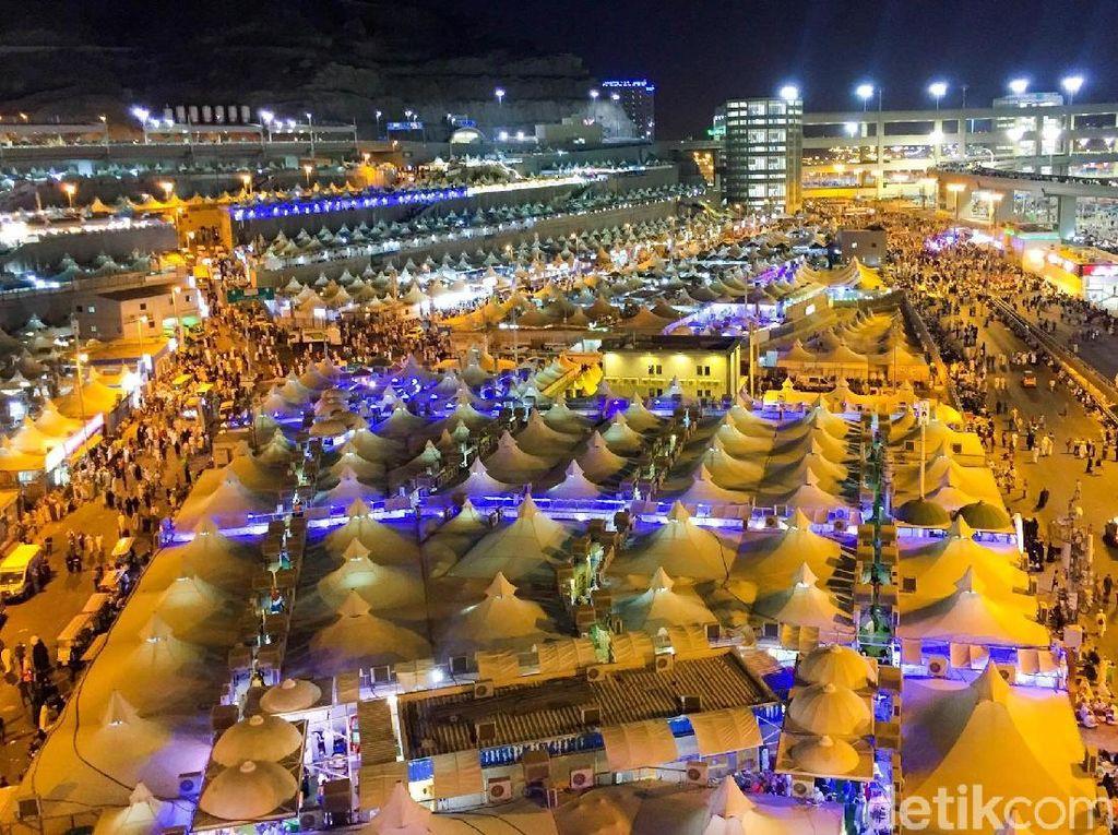 Potret Tenda Jemaah Haji di Mina