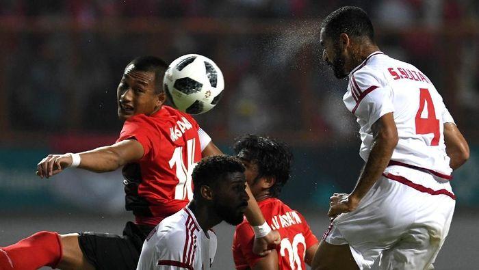 Indonesia tersingkir di babak 16 besar sepakbola Asian Games 2018 setelah kalah dari Uni Emirat Arab lewat adu penalti (Foto: ANTARA FOTO/INASGOC/Djuli Pamungkas/Sup/18)