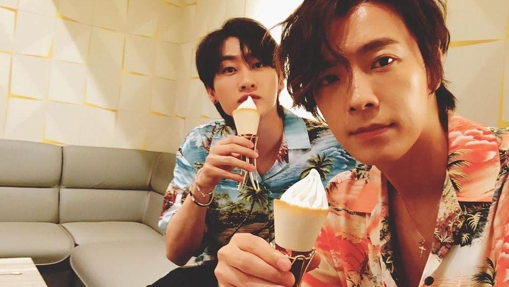 Si Tampan Lee Donghae Ternyata Gemar Ngopi dan Makan Es Krim