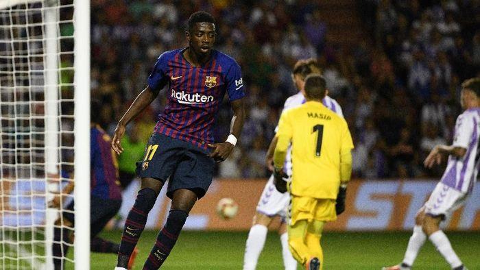 Ousmane Dembele akhirnya bisa menunjukkan kemampuan terbaik yang dia punya (Octavio Passos/Getty Images)