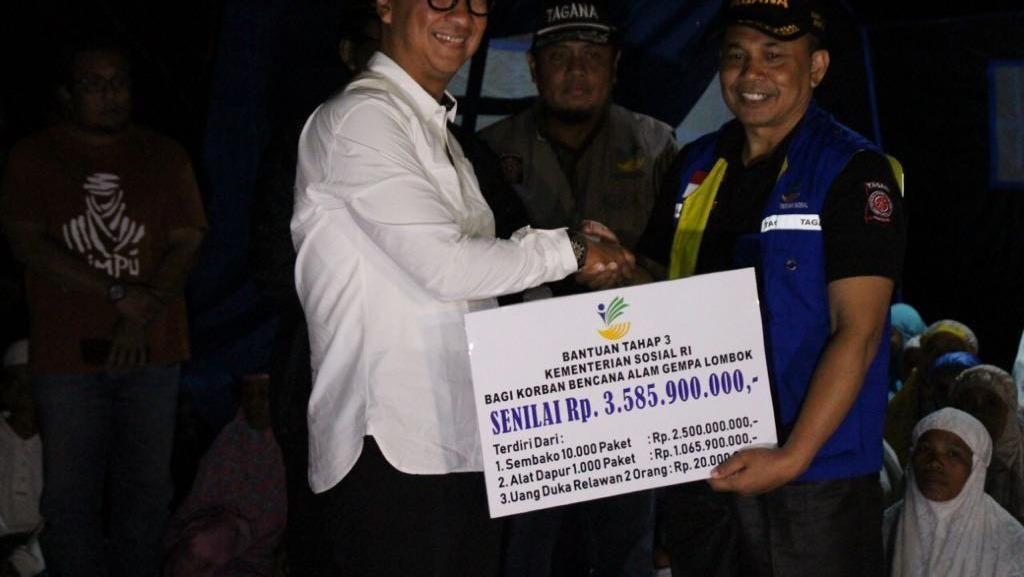 Aksi Mensos Baru ke Posko Gempa Lombok Sehari Setelah Dilantik