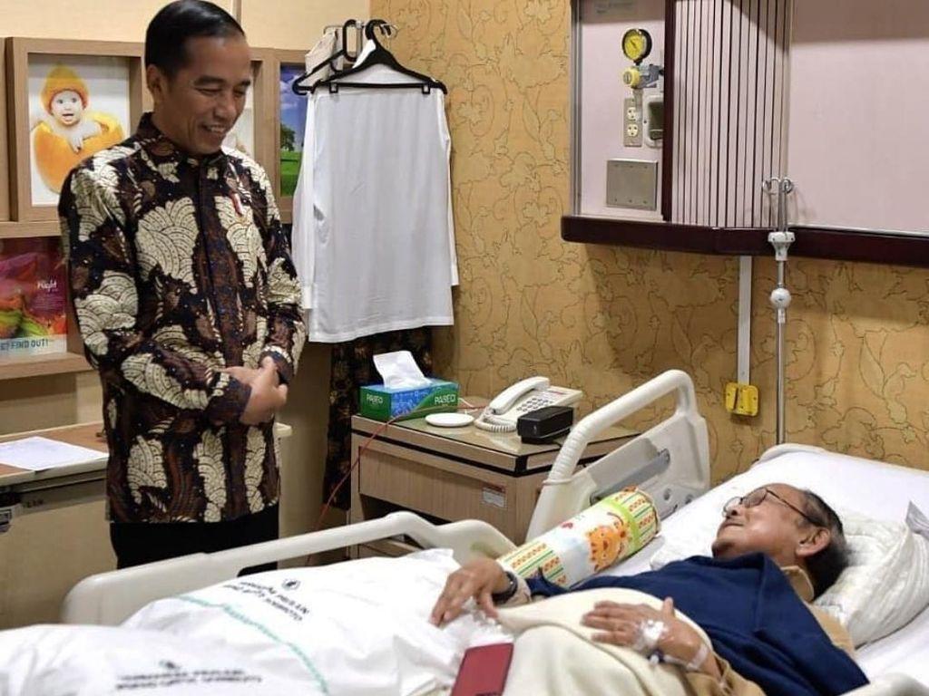 Jokowi: Dalam Sakit, Pak Habibie Masih Pikirkan Kemajuan Indonesia